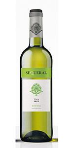 Botella de vino blanco Sequeral