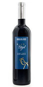 Botella de vino Pago Bojal tinto crianza Ribera del Duero